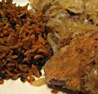 Chicken with Sauerkraut Toursi (Κοτόπουλο με Τουρσί)