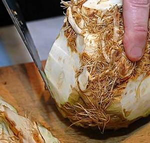 Prepping Celery Root (Celeriac)
