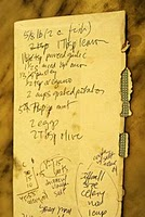 Recipe Written on Envelope