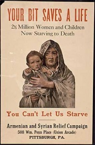 Poster Seeking Help for Starving Armenians, Photograph via Wikipedia