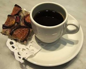 Fig Cookie and Coffee