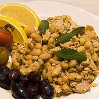 Baked White Beans with Tuna and Sage
