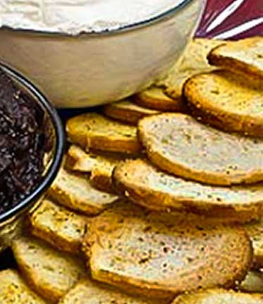 Crispy Garlic Toast for Appetizer Dips, Spreads, and Canapes
