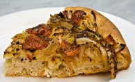 Ladenia: Greek Flatbread with Tomato-Onion Topping (Λαδένια)