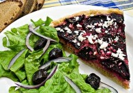 Roasted Beet & Garlic Tart (Παντζαρόπιτα)