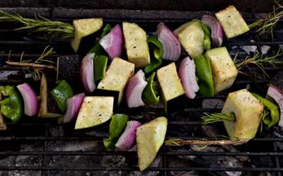 Eggplant Kebab on the Grill