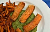 Crispy Salmon Fingers (Σολομός Τηγανητός)