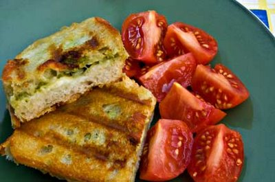 Edamame Pesto and Cheese Sandwiches