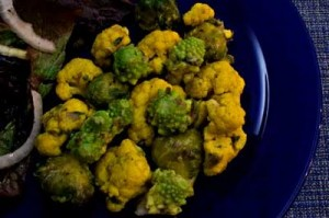 Romanesco Broccoli, Cauliflower & Brussels Sprouts with Mustard Butter