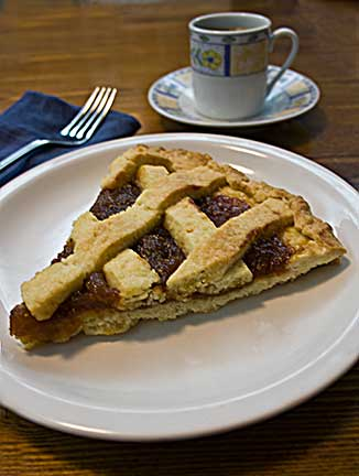 Pasta Flora - Greek Jam Tart with Fig Jam