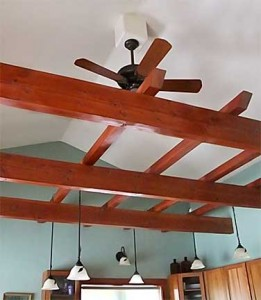Ceiling Beams and Fans