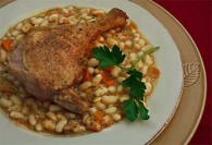 Rustic Braised Duck with Baked White Beans
