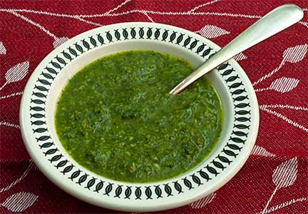 Cilantro Parsley & Basil Sauce