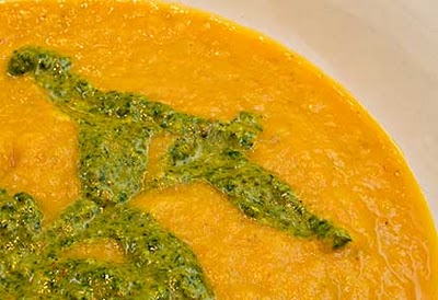 Moroccan Chermoula and Carrot Soup