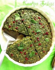 Kookoo Sabzi with Walnuts & Barberries