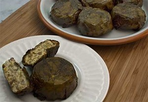 Individual Yogurt Pies in Grape Leaves