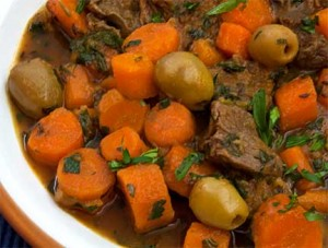 Libyan Lamb Stew with Carrots &amp; Green Olives