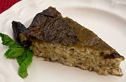 Yogurt Pie in Vine Leaves