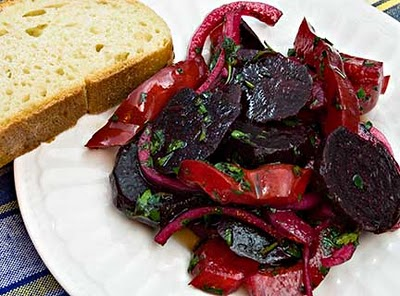 Beet and Red Pepper Salad