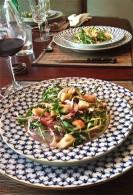 Dandelion Salad with Bacon & Garlic Croutons