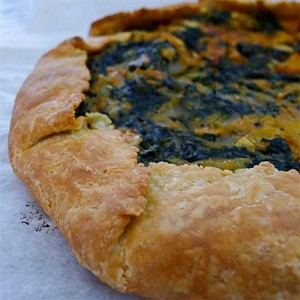 Kale and Squash Tart with Blue Cheese
