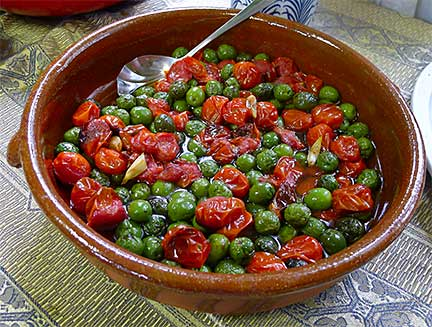 Roasted Castelvetrano Olives &amp; Cherry Tomatoes