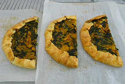 Tasting Kale and Squash Tart with Blue Cheese