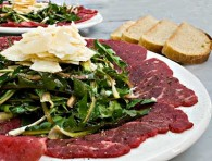 Dandelion Salad with Beef Carpaccio