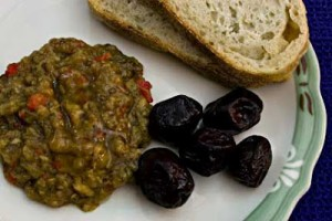 Melitzanosalata (Eggplant and Red Pepper Spread)