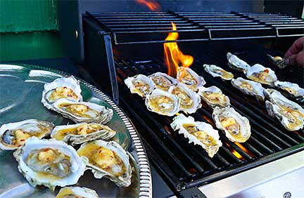 Grilled Oysters with Chili Butter
