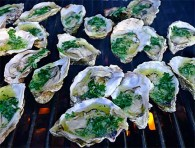 Garlic-Parsley Butter with Grilled Oysters