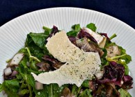 Grilled Radicchio & Arugula Salad with Parmesan Shavings
