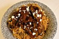 Spaghetti with Eggplant & Tomato Sauce (Pasta alla Norma)