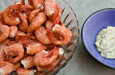 Side Stripe Shrimp and Spruce Mayo