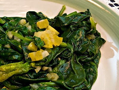 Spinach with Preserved Lemons