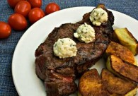 Tuscan-style Grilled Steak with Roquefort-Rosemary Butter