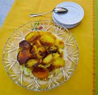Persian Rice with Crispy Potato Tah-dig (Chelo)
