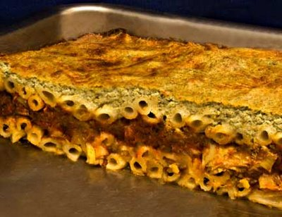 Artichoke Pastitsio in Pan