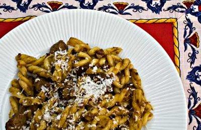 Pasta with Pork in Garlic Wine Sauce