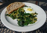 Persian Spinach and Eggs (Nargesi-ye Esfenaj)