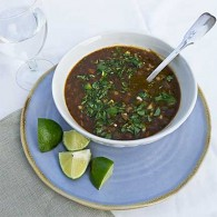 Black Bean and Barley Chili Soup