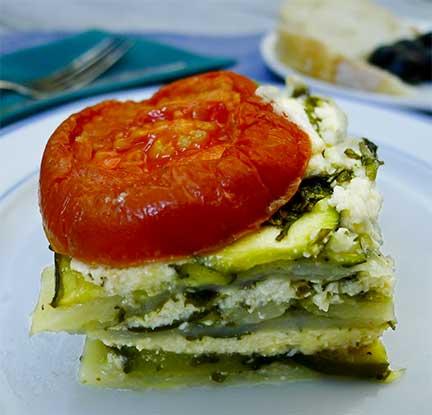 Boureki-Haniotiko (Zucchini and Tomato Gratin)