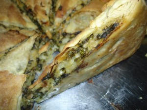 Spanikopita made with Filo Pastry