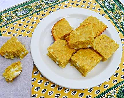 Rustic Greek Cornbread with Feta (Bobota me Feta)