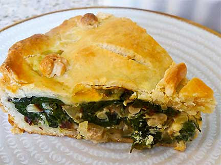 Slice of Provencal Swiss Chard Tourte