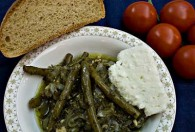 Braised Green Beans (Fasolakia) with Lemon (   )