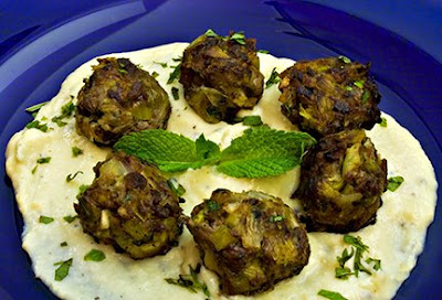 Lamb Leek Meatballs with Onion Avgolemono