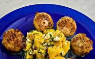 Pan-Fried Scallops with Mango Saltsa (Χτένια με Μάνγκο Σάλτσα)