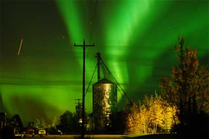 Northern Lights Over Wrigley Farm, Delta Junction, Alaska