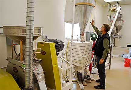 Bryce Wrigley in Alaska Flour Company's Mill